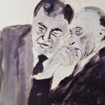 Strauß und Adenauer im Gespräch – © Julia Grimm